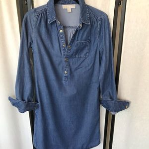 NWOT Denim Michael Kors Dress xxs pockets